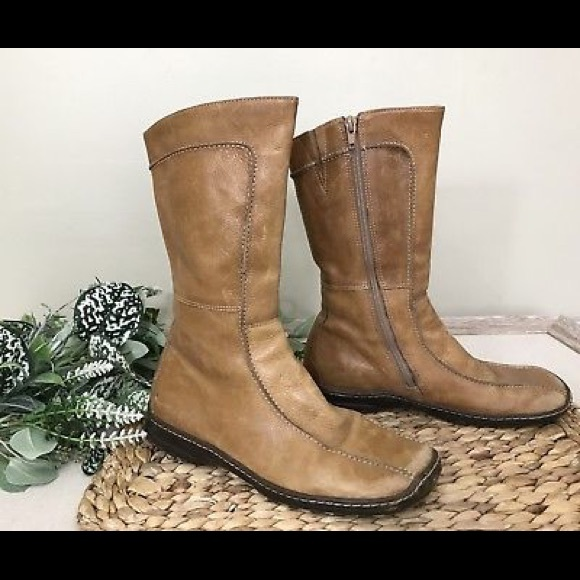 a4907ba7e60 Steve Madden Shoes - Steve Madden Tan Leather Mid Calf Boots sz 8